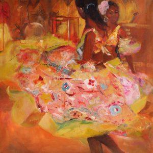 Les danseuses mauriciennes - 80x80cm