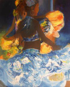 Danse mauricienne - 81x65cm
