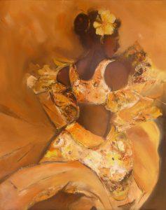 Femme fleur - 81x65cm