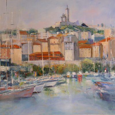 Le port de Marseille - 81x65cm